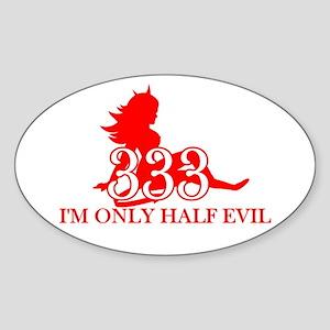 half-evil-shirt Sticker