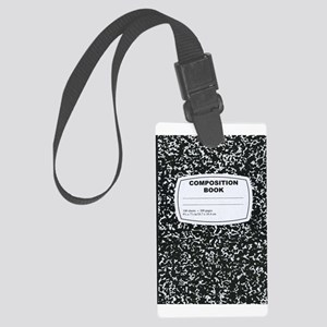 Composition Book Student Teacher Luggage Tag