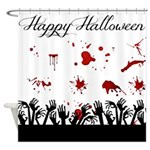 Happy Halloween Scary Shower Curtain