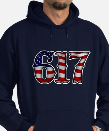 Boston Strong 617 Flag Hoodie