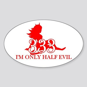half-evil-shirt Sticker