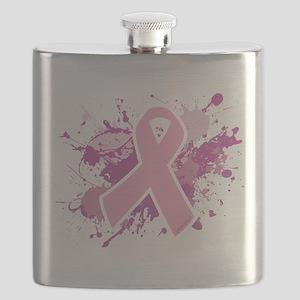 Breast Cancer Splatter Flask