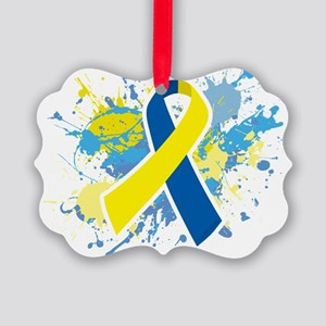 Down Syndrome Splatter Ornament