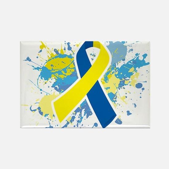 Down Syndrome Splatter Rectangle Magnet (100 pack)
