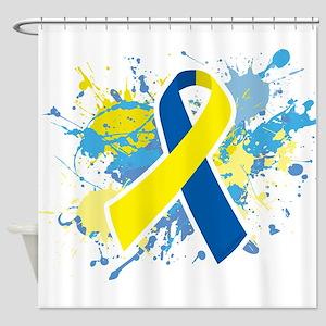 Down Syndrome Splatter Shower Curtain