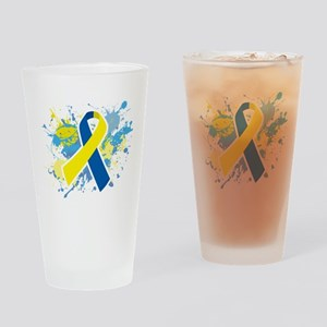 Down Syndrome Splatter Drinking Glass
