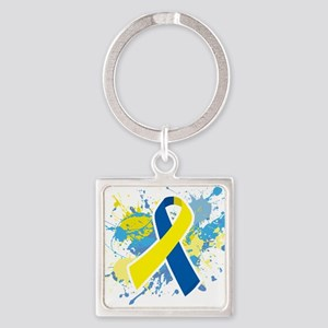 Down Syndrome Splatter Keychains