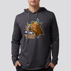 Y IS FOR YAK SHIRT Mens Hooded Shirt