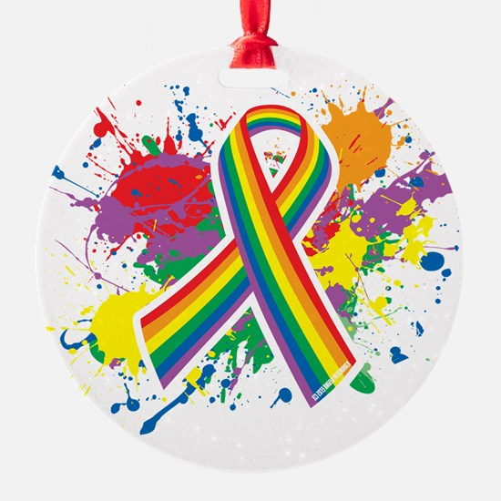 LGBTQ Paint Splatter Ornament