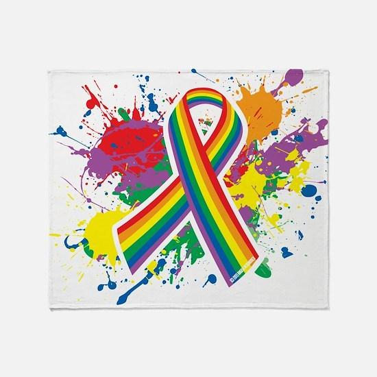 LGBTQ Paint Splatter Throw Blanket