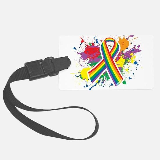 LGBTQ Paint Splatter Luggage Tag