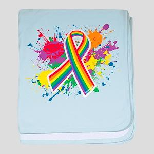 LGBTQ Paint Splatter baby blanket