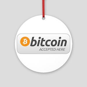 BitcoinAcceptedHere Ornament (Round)
