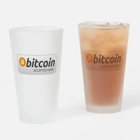 BitcoinAcceptedHere Drinking Glass