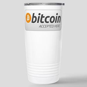 BitcoinAcceptedHere Travel Mug