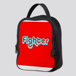 Cancer Fighter Red 4Joanie Neoprene Lunch Bag