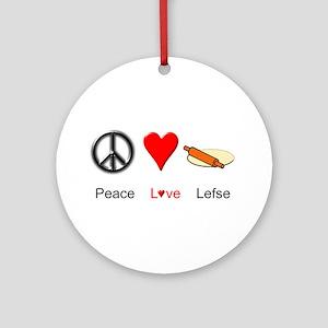 Peace Love Lefse Ornament (Round)