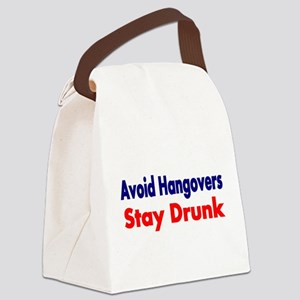 Avoid Hangovers Canvas Lunch Bag