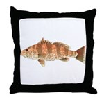 Spotted Bay Bass fish Throw Pillow