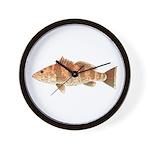 Spotted Bay Bass fish Wall Clock