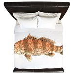 Spotted Bay Bass fish King Duvet