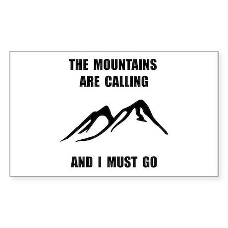 Mountains Must Go Sticker