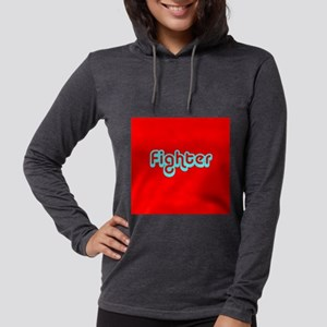 Cancer Fighter Red 4Joanie Womens Hooded Shirt