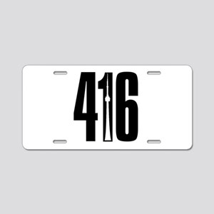 416 CN TOWER SILHOUETTE Aluminum License Plate