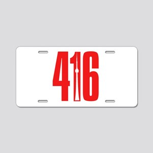 416 CN TOWER Red Aluminum License Plate