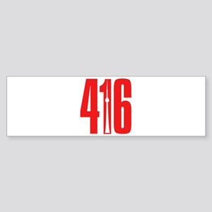 416 CN TOWER Red Bumper Sticker