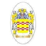 Ca Sticker (Oval 50 pk)