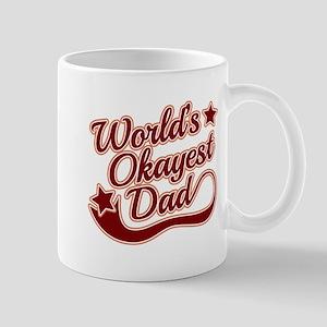 World's Okayest Dad Red Mug