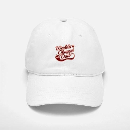 World's Okayest Dad Red Baseball Baseball Cap