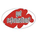 reform yourself Oval Sticker