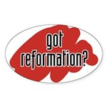 reform yourself Oval Sticker
