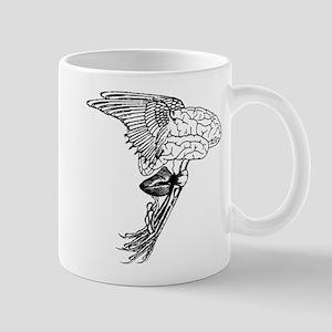 Flying Brain Creature Mugs