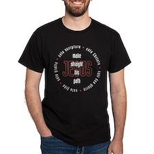 straight path Dark T-Shirt