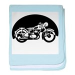 Classic Motorcycle baby blanket