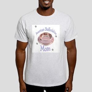 AmStaff Mom Ash Grey T-Shirt
