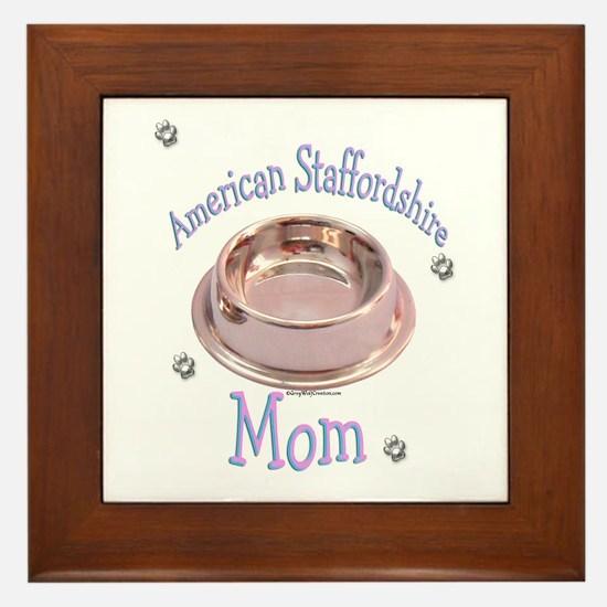 AmStaff Mom Framed Tile