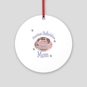 AmStaff Mom Ornament (Round)