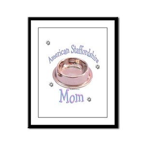 AmStaff Mom Framed Panel Print