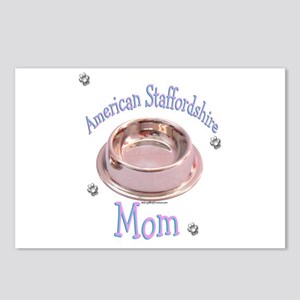AmStaff Mom Postcards (Package of 8)