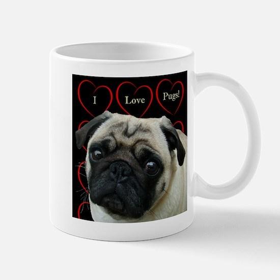 Cute I Love Pugs Mug