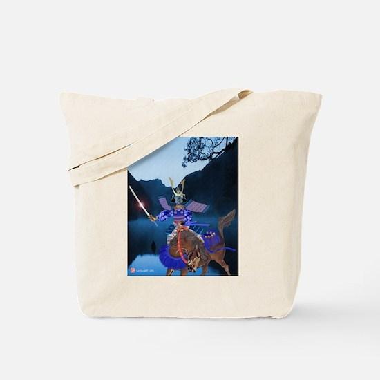 Tote Bag, Pale Blue Rider