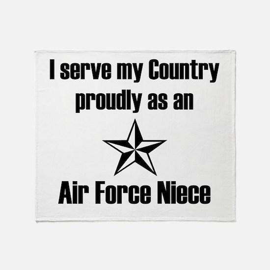 AF Niece Serve Proudly Throw Blanket