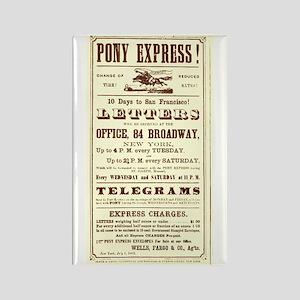 Pony Express Flyer Rectangle Magnet