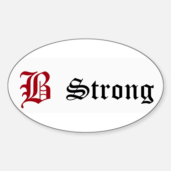 B Strong Bumper Decal Decal