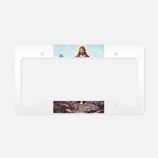 The Lamb of God License Plate Holder