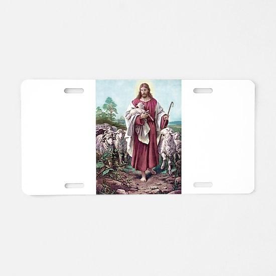 The Lamb of God Aluminum License Plate
